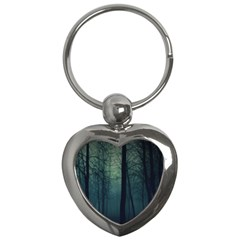 Dark Forest Key Chains (heart)  by Brittlevirginclothing