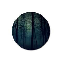 Dark Forest Rubber Round Coaster (4 Pack)  by Brittlevirginclothing