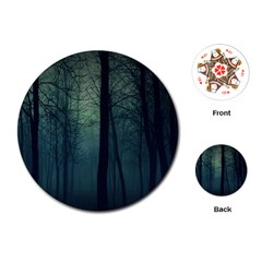 Dark Forest Playing Cards (round)  by Brittlevirginclothing