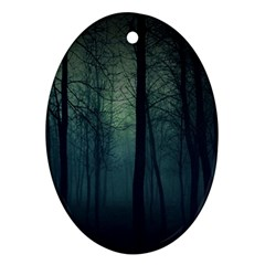Dark Forest Oval Ornament (two Sides) by Brittlevirginclothing