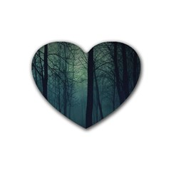 Dark Forest Heart Coaster (4 Pack)  by Brittlevirginclothing