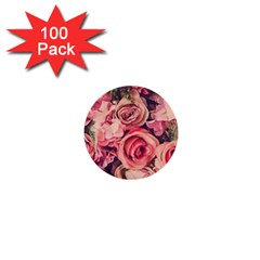 Beautiful Pink Roses 1  Mini Buttons (100 Pack)  by Brittlevirginclothing