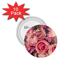Beautiful Pink Roses 1 75  Buttons (10 Pack) by Brittlevirginclothing