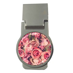 Beautiful Pink Roses Money Clips (round)  by Brittlevirginclothing