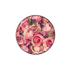 Beautiful Pink Roses Hat Clip Ball Marker by Brittlevirginclothing