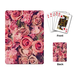 Beautiful Pink Roses Playing Card by Brittlevirginclothing