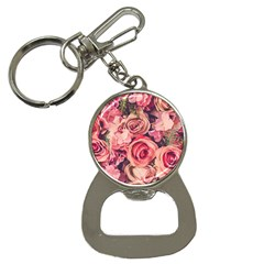 Beautiful Pink Roses Bottle Opener Key Chains by Brittlevirginclothing