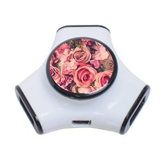 Beautiful Pink Roses 3-port Usb Hub by Brittlevirginclothing
