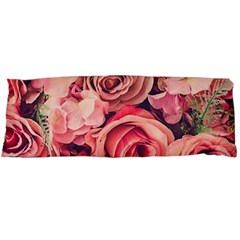 Beautiful Pink Roses Body Pillow Case Dakimakura (two Sides) by Brittlevirginclothing