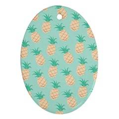 Pineapple Ornament (oval) by Brittlevirginclothing