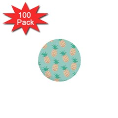 Pineapple 1  Mini Buttons (100 Pack)  by Brittlevirginclothing