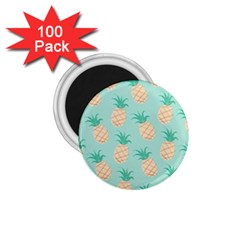 Pineapple 1 75  Magnets (100 Pack)  by Brittlevirginclothing