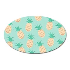 Pineapple Oval Magnet by Brittlevirginclothing