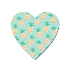Pineapple Heart Magnet by Brittlevirginclothing