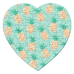 Pineapple Jigsaw Puzzle (heart) by Brittlevirginclothing
