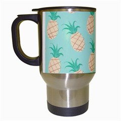 Pineapple Travel Mugs (white) by Brittlevirginclothing
