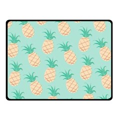 Pineapple Double Sided Fleece Blanket (small)  by Brittlevirginclothing