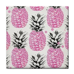 Pink Pineapple Tile Coasters by Brittlevirginclothing