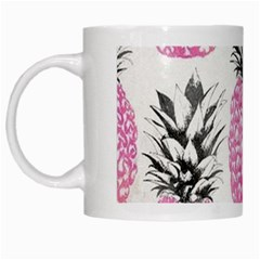 Pink Pineapple White Mugs by Brittlevirginclothing