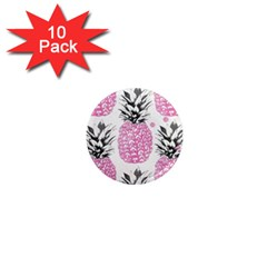 Pink Pineapple 1  Mini Magnet (10 Pack)  by Brittlevirginclothing