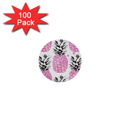 Pink Pineapple 1  Mini Buttons (100 Pack)  by Brittlevirginclothing