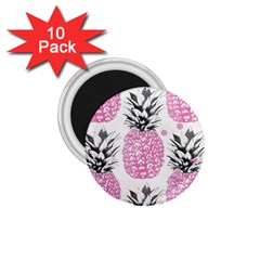 Pink Pineapple 1 75  Magnets (10 Pack)  by Brittlevirginclothing
