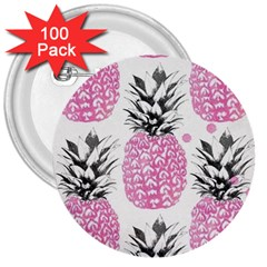 Pink Pineapple 3  Buttons (100 Pack)  by Brittlevirginclothing