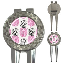 Pink Pineapple 3 In 1 Golf Divots by Brittlevirginclothing