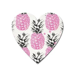 Pink Pineapple Heart Magnet by Brittlevirginclothing