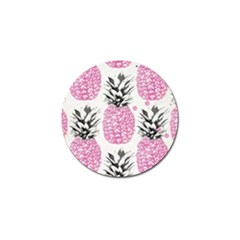 Pink Pineapple Golf Ball Marker by Brittlevirginclothing