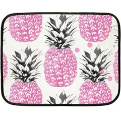 Pink Pineapple Fleece Blanket (mini) by Brittlevirginclothing