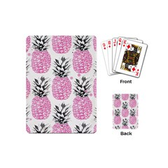 Pink Pineapple Playing Cards (mini)  by Brittlevirginclothing