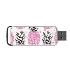Pink Pineapple Portable Usb Flash (two Sides) by Brittlevirginclothing