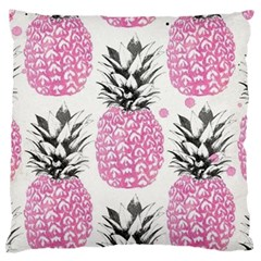 Pink Pineapple Large Flano Cushion Case (one Side) by Brittlevirginclothing