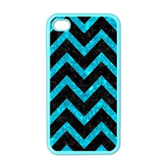 Chevron9 Black Marble & Turquoise Marble Apple Iphone 4 Case (color) by trendistuff