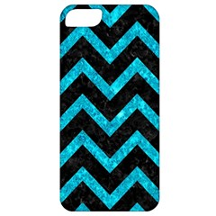 Chevron9 Black Marble & Turquoise Marble Apple Iphone 5 Classic Hardshell Case by trendistuff