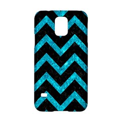 Chevron9 Black Marble & Turquoise Marble Samsung Galaxy S5 Hardshell Case