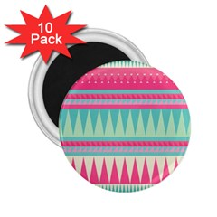 ¨pink Bohemian 2 25  Magnets (10 Pack)  by Brittlevirginclothing