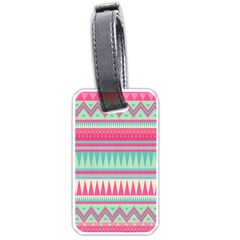 ¨pink Bohemian Luggage Tags (one Side)  by Brittlevirginclothing