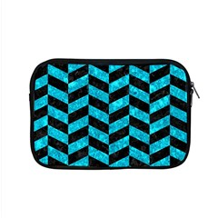 Chevron1 Black Marble & Turquoise Marble Apple Macbook Pro 15  Zipper Case