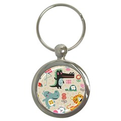 Cute Cartoon Key Chains (round)  by Brittlevirginclothing