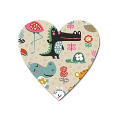 Cute Cartoon Heart Magnet by Brittlevirginclothing