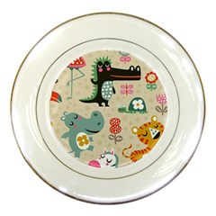 Cute Cartoon Porcelain Plates by Brittlevirginclothing