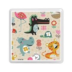 Cute Cartoon Memory Card Reader (square)  by Brittlevirginclothing