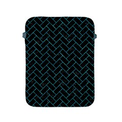 Brick2 Black Marble & Turquoise Marble Apple Ipad 2/3/4 Protective Soft Case