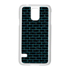 Brick1 Black Marble & Turquoise Marble Samsung Galaxy S5 Case (white) by trendistuff