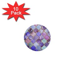 Blue Moroccan Mosaic 1  Mini Buttons (10 Pack)  by Brittlevirginclothing