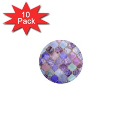 Blue Moroccan Mosaic 1  Mini Magnet (10 Pack)  by Brittlevirginclothing