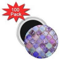 Blue Moroccan Mosaic 1 75  Magnets (100 Pack)  by Brittlevirginclothing