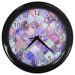 Blue Moroccan Mosaic Wall Clocks (black) by Brittlevirginclothing